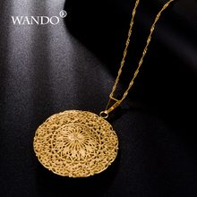 WANDO High quality Necklace For Women Choker Pendants Nigeria Sudan Eritrea Kenya Ethiopian Best Gift P5(China)