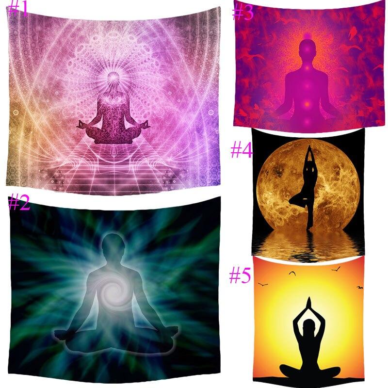 Comwarm Indian Meditation Explore Printing Tapestry Beach Throw Mat Yoga Rug Wall Hanging Gobelin Livingroom Bedding