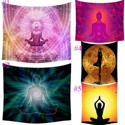 Comwarm Indian Meditation Explore Printing Tapestry Beach Throw Mat Yoga Rug Wall Hanging Gobelin Livingroom Bedding Home Decor
