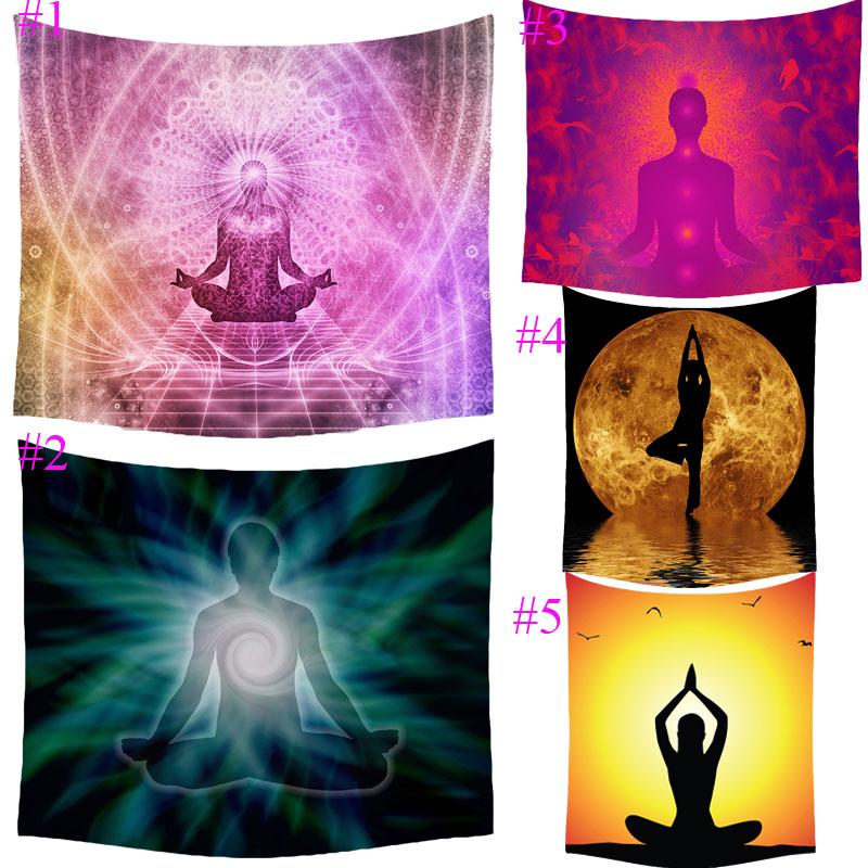 Comwarm Meditação Indiana Explorar Impressão Praia Jogar Mat Tapete de Yoga Tapete Tapeçaria Gobelin Tapeçaria Sala Cama Home Decor