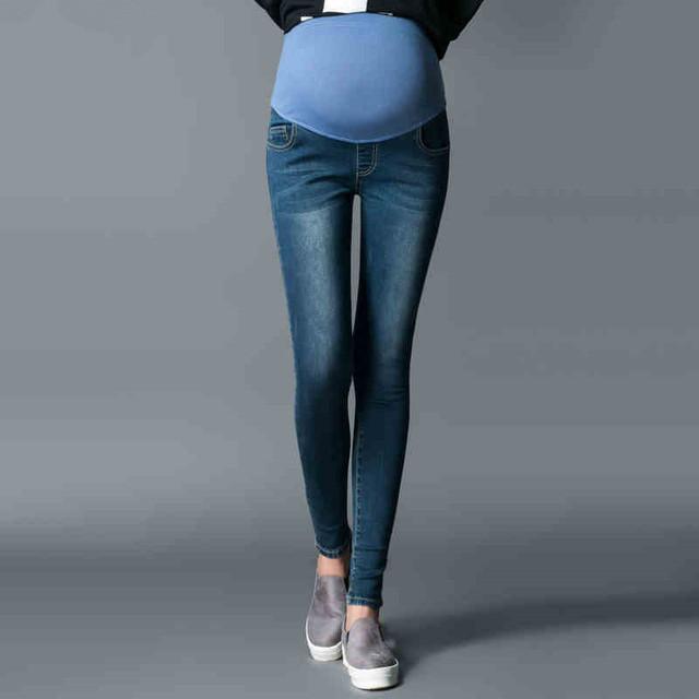 2017 Más El Tamaño de Maternidad Pantalones Vaqueros de Maternidad Pantalones de Primavera Otoño Pantalones Largos Más El Tamaño de Maternidad Ropa de 40 kg-80 kg