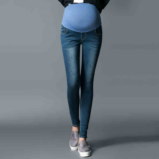 2017 Plus Size Maternity Jeans Pants Maternity Pants Spring Autumn Long Trousers Plus Size Maternity Clothing for 40kg-80kg