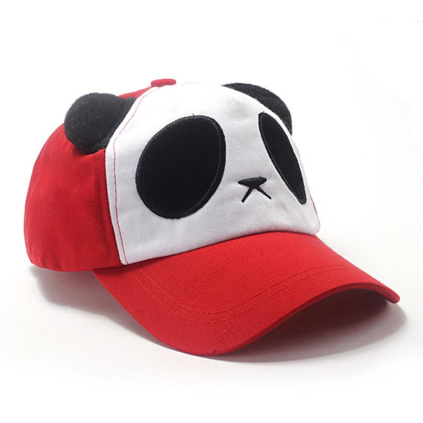 2017 Lovely Panda Print Solid Unisex Peaked Hat Snapback Baseball Cap  Adjustable Hats Casquette Vintage Hats For Kids F273-in Baseball Caps from  Apparel ... b27ea6d0bbe6