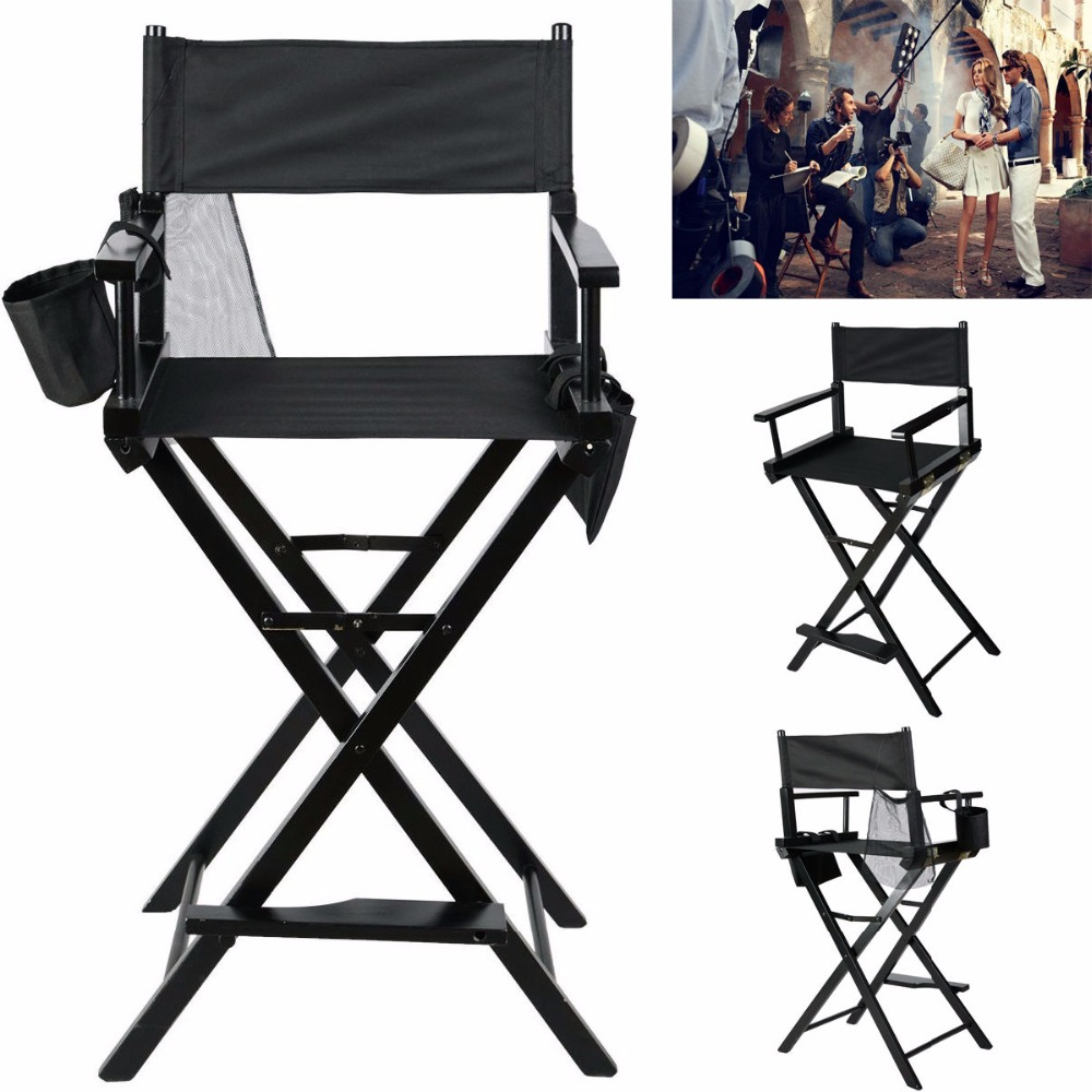 makeup artist directors chair wood light weight foldable black new hw46460