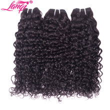 Brazilian water wave hair bundles water wave human hair weave 1/3 bundles deals lanqi brazilian virgin hair remy hair extensions(China)