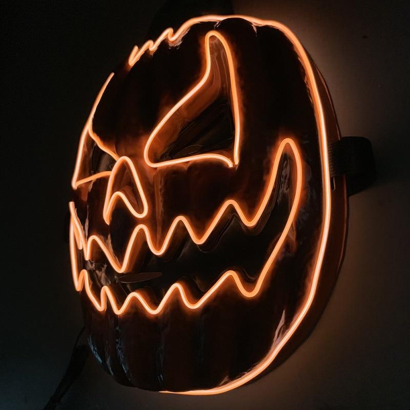 Light Up Pumpkin Halloween Mask 1