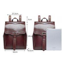 купить Women Genuine Leather Travel Backpack Handbag Shoulder School Bag Rucksack Satchel по цене 1736.4 рублей