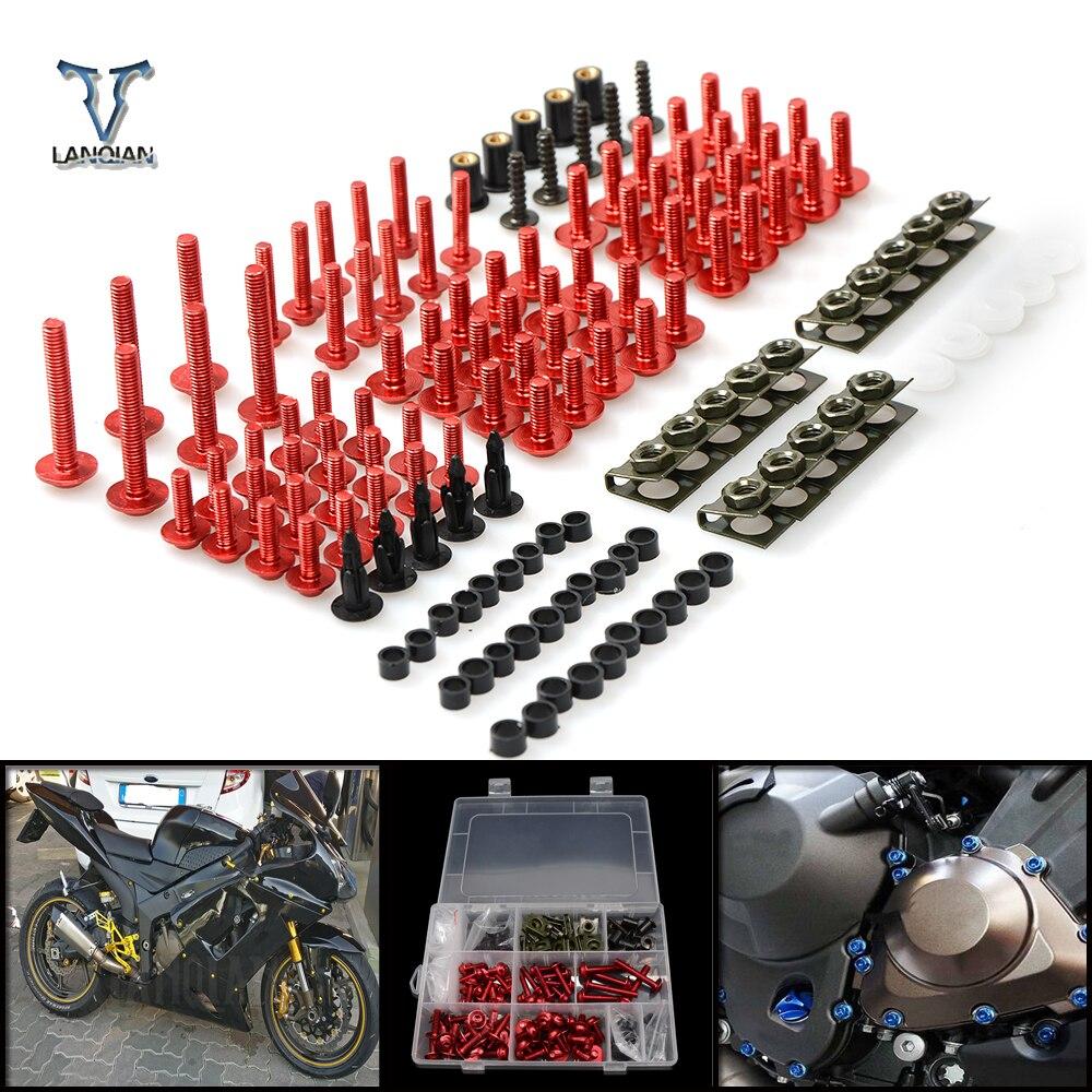 CNC universel moto carénage/pare-brise boulons vis ensemble pour Suzuki GSX550 gsx 550 GSX250 gsx 250 GSX600 fj-fv GN72A Katana