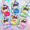 [SGDOLL] Japanese Anime Osomatsu San SIX SAME FACES Bathroom Ver.  6pcs Set Phone Strap Keychain Toys Free Shipping 16072205