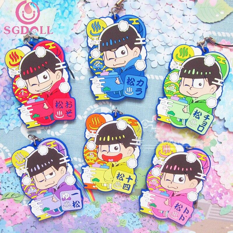 sgdoll japanese anime osomatsu san six same faces bathroom ver 6pcs set phone