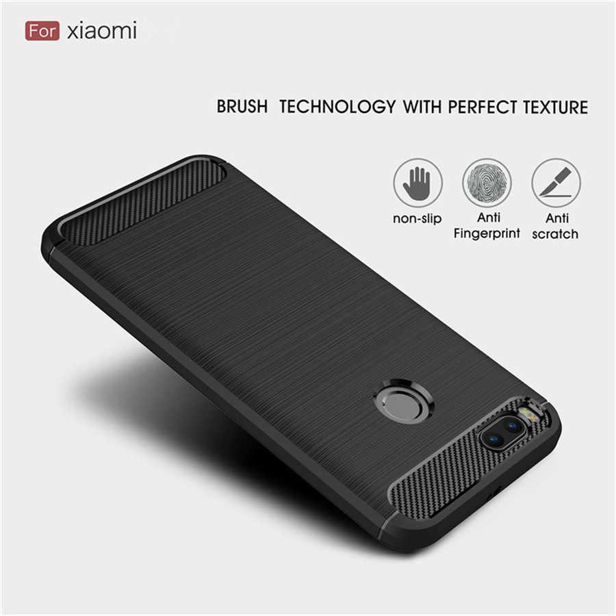 Pocophone F1 ケースカバーシリコン Xiaomi Redmi 注 6 プロ Redmi 5 プラス 4X 4A 5A 3 S 6A S2 鎧カーボン TPU バックカバー頑丈なケース