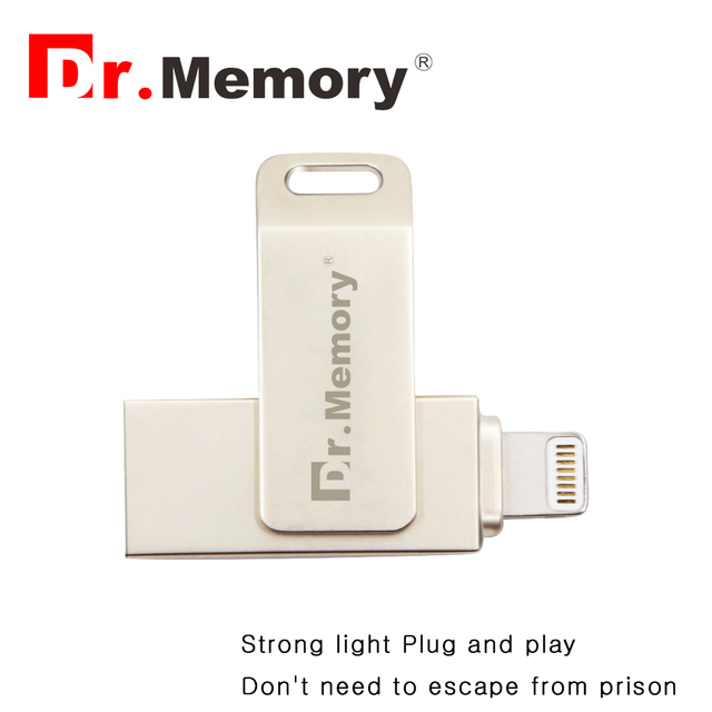 Dr. memória 2 em 1 i-flash drive para apple ipad iphone 6 s 6 além de Criptografado pendrive de alta velocidade usb flash drive 64G 64g 128G u disco