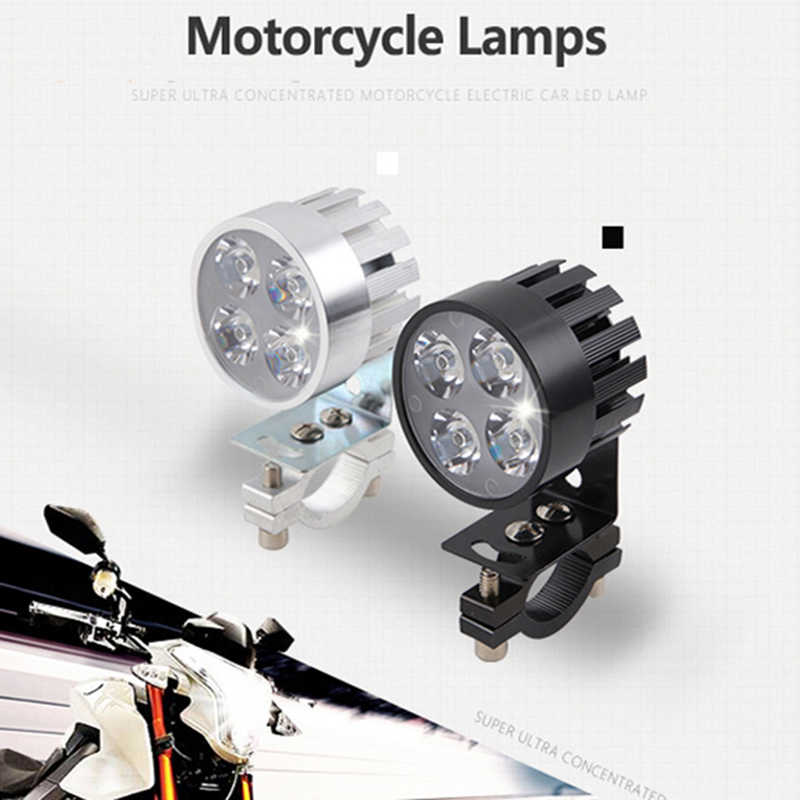 2Pcs Motorcycle LED Headlight Motorbike Auxiliary Work Lights white Lighting 12V 20W 6500k Led Motor Bicycle Fog Lamp Headlamp