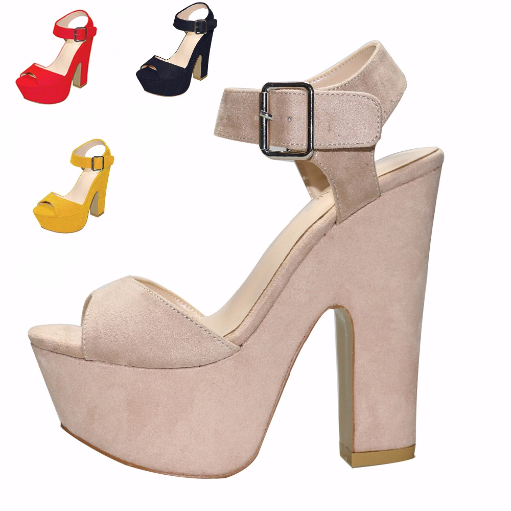2018 New Fashion 14.5CM Thick Heels Sandals Hot Sale Peep Toe Concise Platform Sandals Summer Comfortable Shoes For Women35-41  2018 New Fashion 14.5CM Thick Heels Sandals Hot Sale Peep Toe Concise Platform Sandals Summer Comfortable Shoes For Women35-41