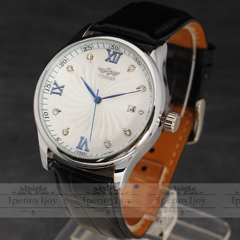Prix pour Clair squelette creux marque design de mode montre mécanique hommes de luxe mâle montres d'affaires poignet armée sport cadeau montre