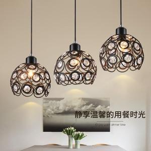 Image 2 - גביש מנורת מסעדת תליון אורות creative אישיות מודרני פשטות בר אוכל חדר יסעד תאורת אהיל (Dia: 20 cm)