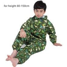 Dinozaur chłopcy płaszcz przeciwdeszczowy dla dzieci, kaptur wodoodporny płaszcz przeciwdeszczowy dla dzieci kombinezon kostium przeciwdeszczowy, studenci płaszcz przeciwdeszczowy typu poncho