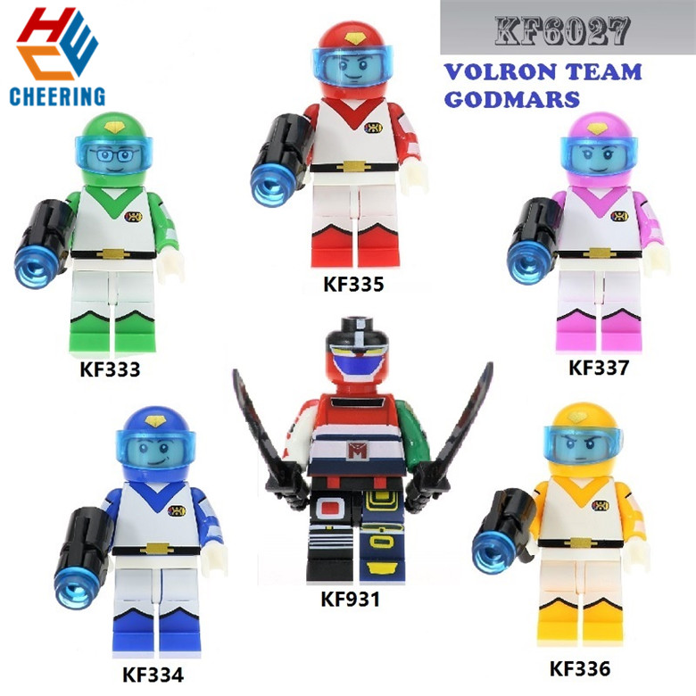Voltron Team Godmars Building Blocks Education For Children Toys Gift