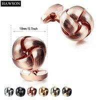 HAWSON 2017 Mới Nóng Áo Sơ Mi Hoa Cuff liên kết cho Nam Dress Nút Twist Hôn Khuy Măng Sét Nam Đồ Trang Sức Phụ Kiện