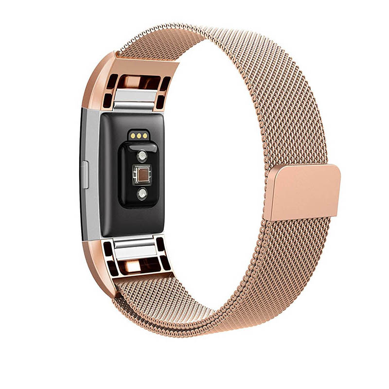 watchstrap for Fitbit Charge 2 watch band replacement strap stainless steel bracelet link watchband for Fitbit charge2 wristband in Watchbands from Watches