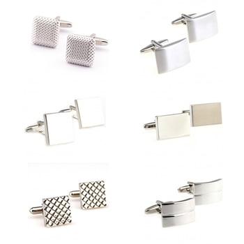 Fashion Siver Metal Cufflink Cuff Link Free Shipping