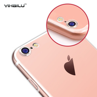 For iPhone 7 Case Protect Camera Case Soft TPU Back Cover Transparent Clear Silicone Ultra Thin Phone Case For iPhone 7 Plus
