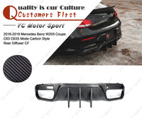 Car Accessories Carbon Fiber Rear Diffuser Fit For 2016 2018 MB W205 Coupe C63 C63S Mode Carbon Style Rear Diffuser Lip