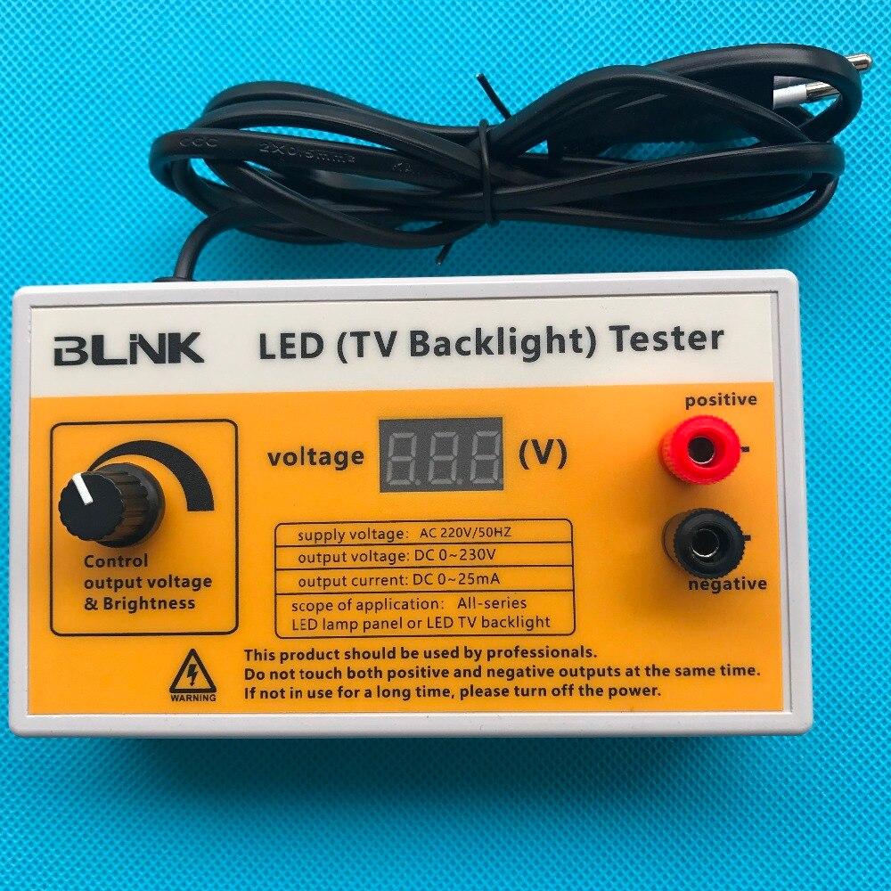 Brand New 0-230V Output LED TV Backlight Tester LED Strips Test Tool With Voltage Display For All LED Application EU Plug