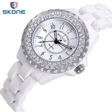 SKONE Watches women top Brand Luxury Casual Quartz Watch female Ladies Ceramic watches Girls Wristwatches Gifts relogio feminino