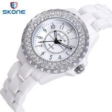 Skone Horloges Vrouwen Top Brand Luxe Casual Quartz Horloge Vrouwelijke Dames Keramische Horloges Meisjes Horloges Geschenken Relogio Feminino