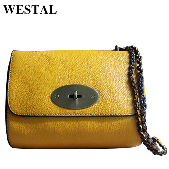 WESTAL Genuine Leather Handbag Women Bag Bolsa Feminina Shoulders Crossbody Bags Women Messenger Leather Bag Small Bag Flap