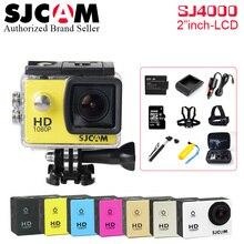 Original SJCAM SJ4000 Series SJ4000 Action Camera 1080P HD 2.0″ Waterproof Camera Sport DV Connector Set SJ 4000 Extreme Cam