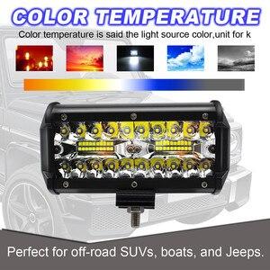 Image 3 - 2pcs 7 pollici HA CONDOTTO LA Luce Bar 240W Fuori Strada Luci di Guida Luci di Lavoro LED per Jeep Lampade A LED Per auto Luces Led Para Auto