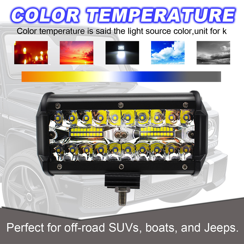 Image 3 - 2pcs 7inch LED Light Bar 240W Offroad Driving Lights LED Work Lights for Jeep LED Lamps For Cars Luces Led Para Auto-in Light Bar/Work Light from Automobiles & Motorcycles