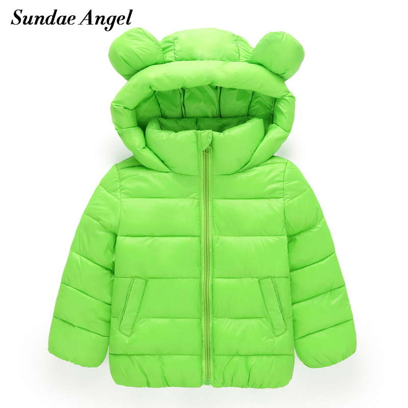 Sundae Angel Girl Jackets Girls Outerwear Coats Long Sleeve Solid Thick Kids Baby Boy Down Parkas Cotton Warm Children Clothing baby boy s fashion hooded coats 2017 winter cartoons little monster cute long sleeve jackets children s clothing warm outerwear