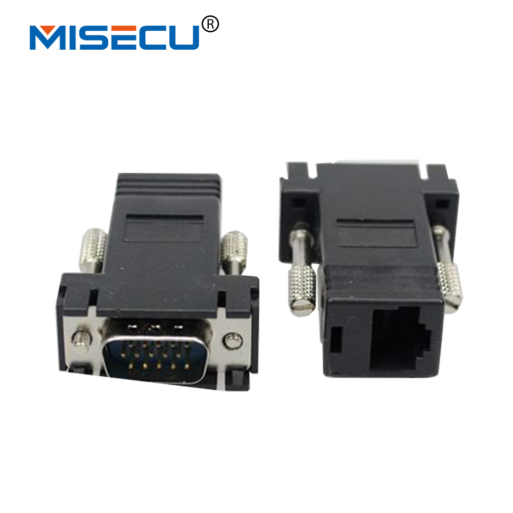 VGA Video Extender Male To LAN CAT5 CAT6 RJ45 Network Cable Female Adapter Vga To Rj45 Adapter