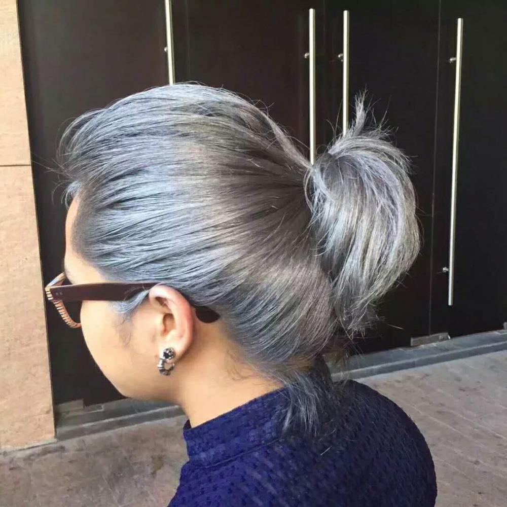 Diy Color Hair Wax Mud Cream Grandma Hair Ash Dye One Time White