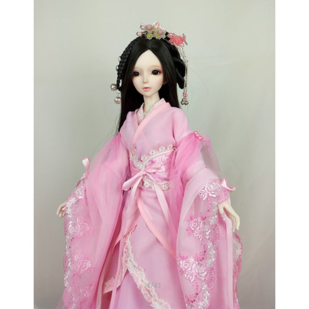 [wamami] 699# Pink Ancient Costume/Dress/Outfit For 1/4 MSD AOD DOD BJD Dollfie 1 3 1 4 uncle bjd costume clothes ancient costume