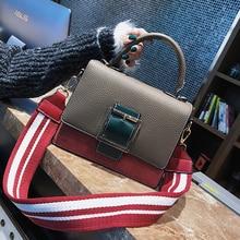 ETAILL Stripe Wide Strap Women Shoulder Bag Pu Leather Fashion Flap Bags Luxury Brand Crossbody Bags For Women Messenger Bag