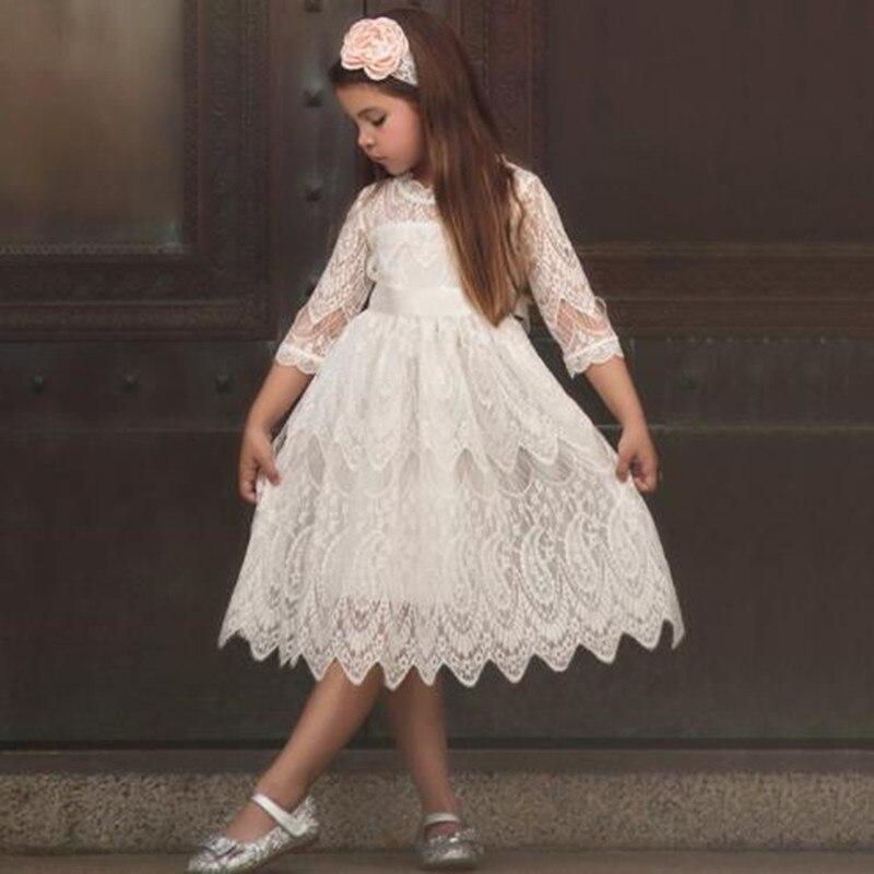 HaoChengJiaDe Children Clothing   Girl   Summer   Flower     Girl     Dresses   Wedding Party Kids Tutu Birthday Princess   Dress   for   Girls   Infant