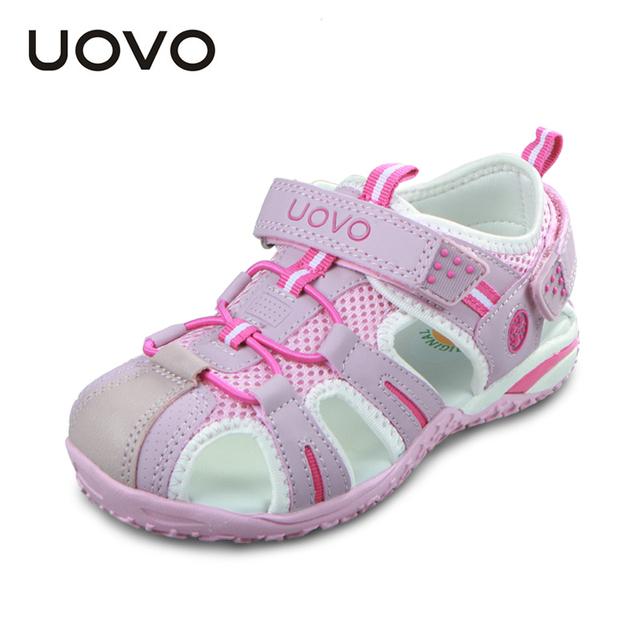 UOVO Niños Zapatos Niñas Niños Zapatos Sandalias de Verano Sandalias de Punta Cerrada para Los Niños Pequeños Niños Grandes Sandalias de Playa