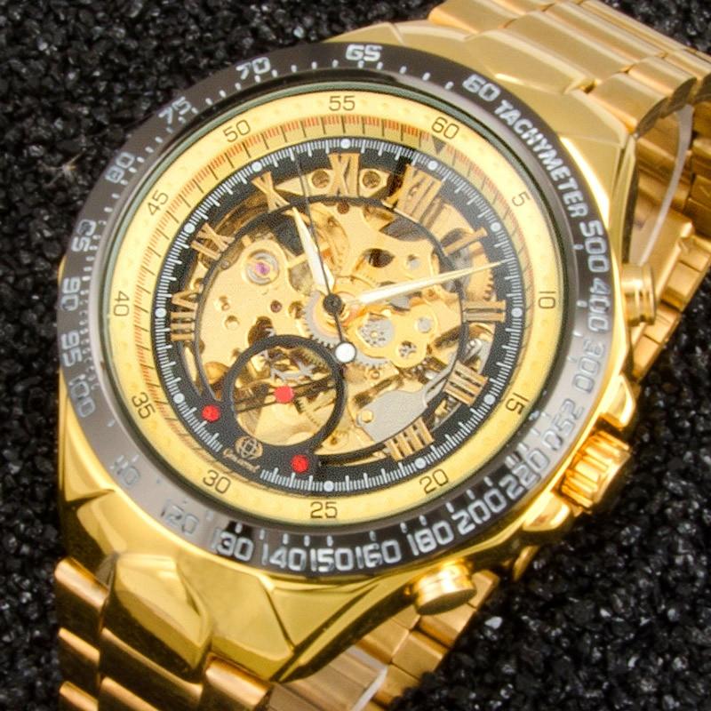 Новый номер спортивный дизайн ободок золотые часы мужские s часы лучший бренд класса люкс Montre Homme Часы Мужские автоматические тонкие часы подарок