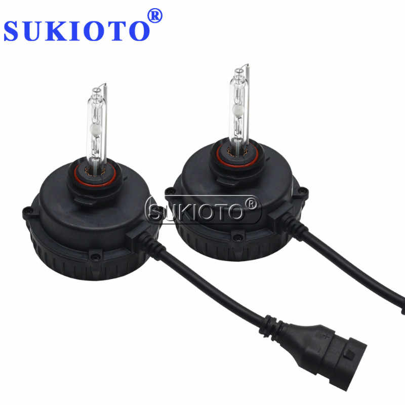 SUKIOTO Car Headlight Xenon 9012 hir2 xenon Bulbs 55W hir2 bixenon projector Lens Bulb RAV4 LEVIN HID Headlamp Car Styling