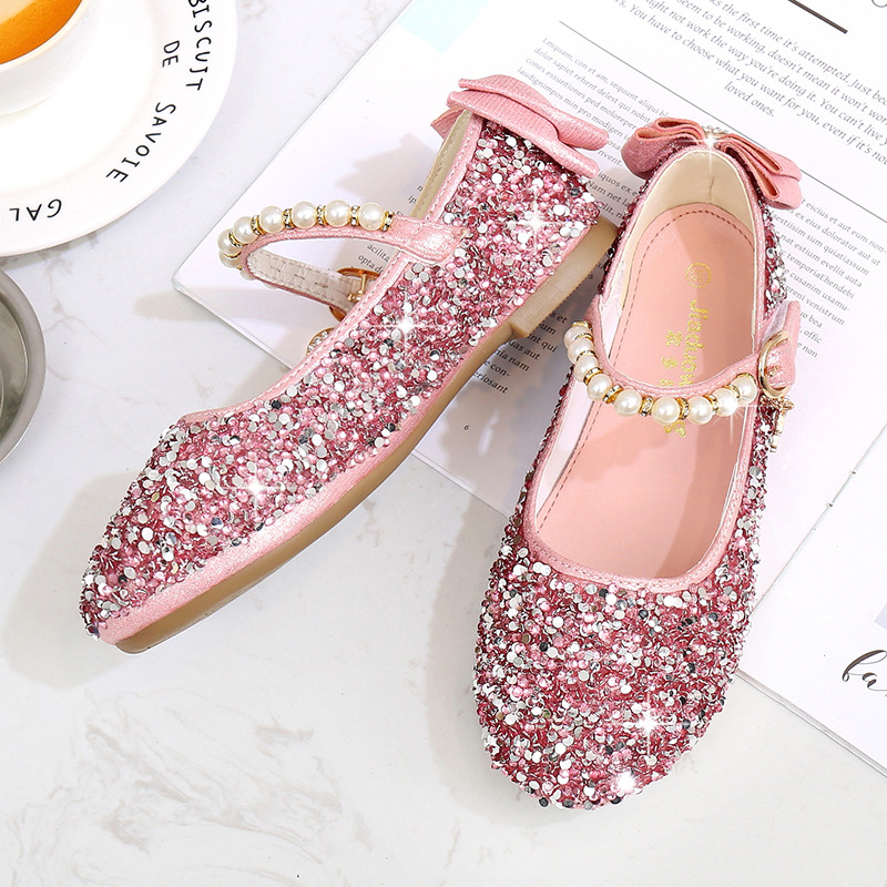 New Kid Girl Sequin Flat Ballet Dancing Soft Comfort Casual Party Shoes Sandals