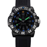 Карнавал Мужские Спорт военно трития световой 50 м Водонепроницаемый Slicone ремешок для часов Кварцевые часы Дайвинг черный ободок черный циф