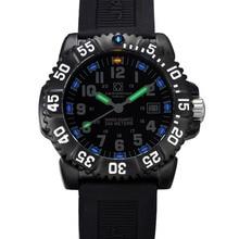 Carnival Mens Sport Military Tritium Luminous 200m Waterproof Slicone Watchband Quartz Diving Watch – black Bezel black Dial