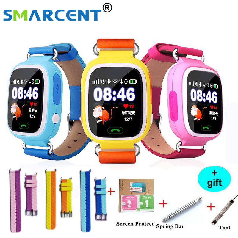 Q90 GPS Smart baby smart watch telefon kinder GPS Wifi smart watch q90 SOS GPS Lage Gerät Tracker Kid Safe Monitor kinder