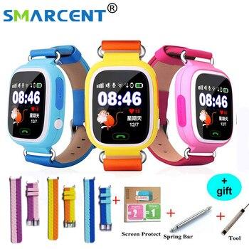 Q90 GPS Thông Minh bé smart watch điện thoại trẻ em GPS Wifi smart watch SOS GPS Vị Trí Thiết Bị Tracker Kid An Toàn Màn Hình trẻ em đồng hồ