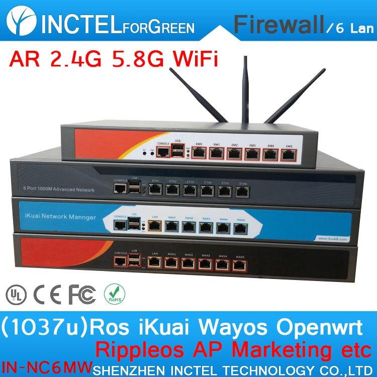 1037U Wireless WIFI 2 4G 5 8G 6 Gigabit Ethernet port Routing ROS IN NC6MW