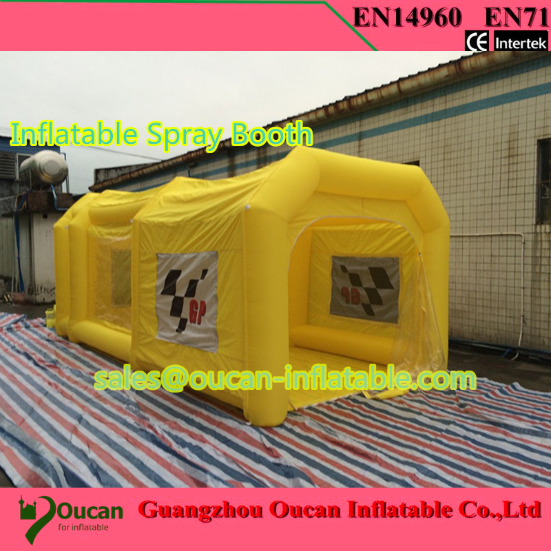 Livraison gratuite 6 m cabine de pulvérisation gonflable cabine de peinture gonflable tente cabine de pulvérisation de voiture gonflable à vendre
